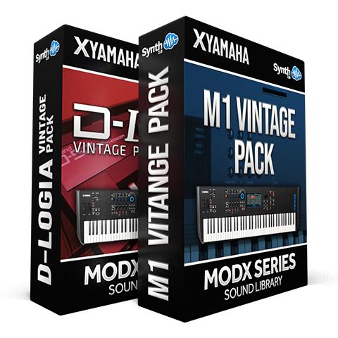 SCL341 - ( Bundle ) - D-Logia D50 Vintage Pack + M1 Vintage Pack - Yamaha MODX