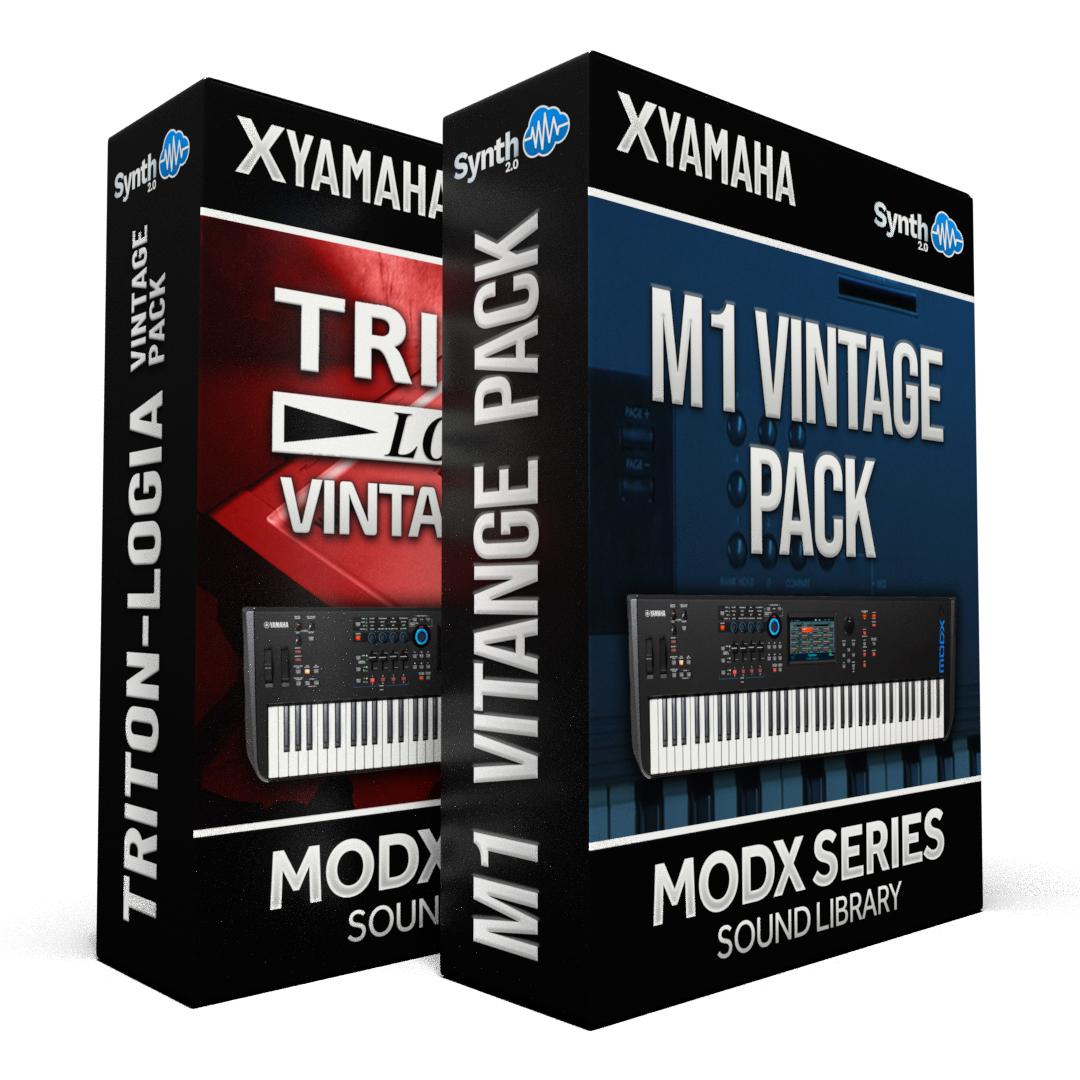 SCL339 - ( Bundle ) - Triton-logia Vintage Pack + M1 Vintage Pack - Yamaha MODX