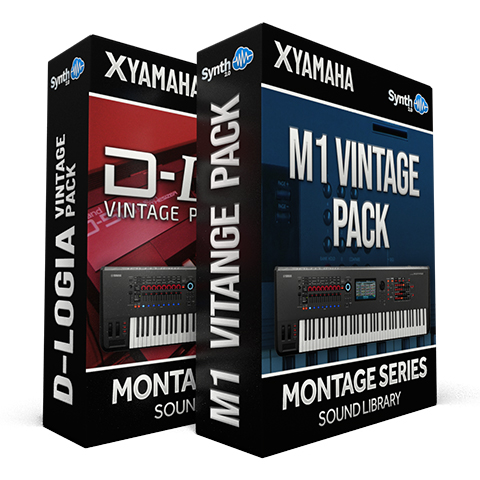 SCL341 - ( Bundle ) D-Logia D50 Vintage Pack + M1 Vintage Pack - Yamaha MONTAGE