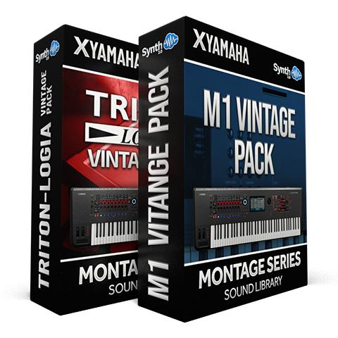 SCL339 - ( Bundle ) - Triton-logia Vintage Pack + M1 Vintage Pack - Yamaha MONTAGE