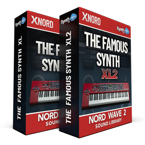 SLL025 - ( Bundle ) - The Famous Synth XL + The Famous Synth XL V2 - Nord Wave 2