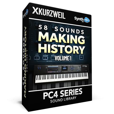 SCL152 - 58 Sounds - Making History Vol.1 - Kurzweil PC4