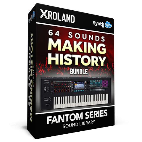 SCL333 - ( Bundle ) - 64 Sounds - Making History Vol.1 + Vol.2 + Vol.3 - Roland Fantom