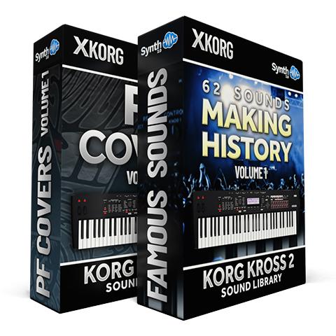 SCL188 - ( Bundle ) - 62 Sounds - Making History Vol.1 + PF Covers - Korg Kross 2