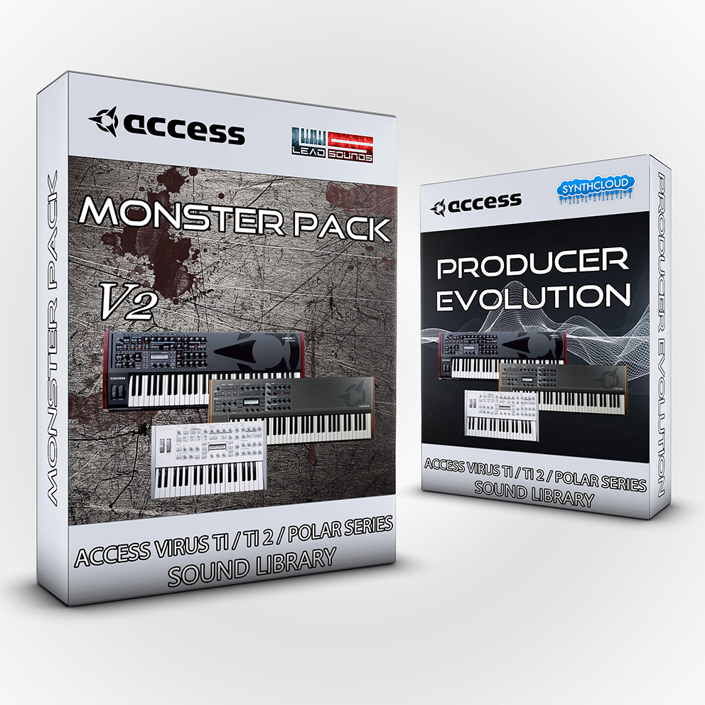 LDX186 - ( Bundle ) Monster Pack V2 + Producer Evolution - Access Virus TI / TI2 / Polar / Snow