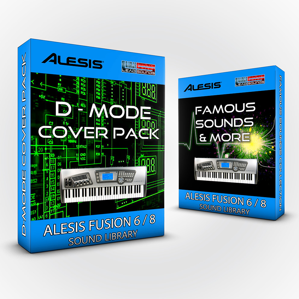 SCL36 - ( Bundle ) D-Mode Cover Pack + Famous Sounds and more - Alesis Fusion 6/8
