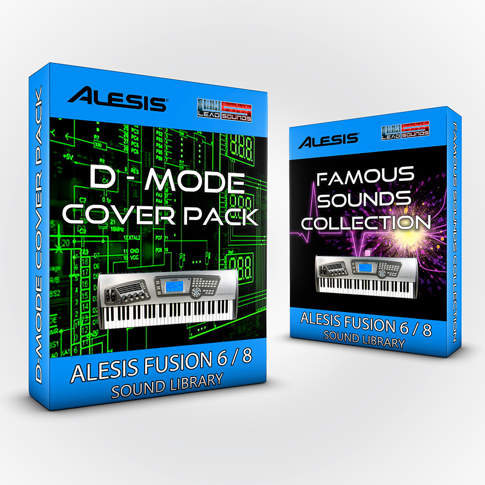 SCL38 - ( Bundle ) D-Mode Cover Pack + Famous Sounds Collection- Alesis Fusion 6/8