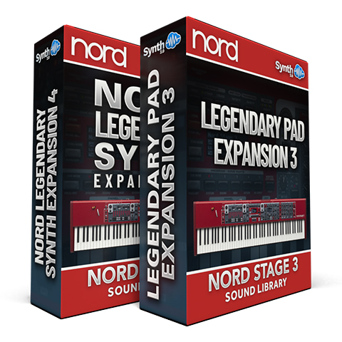 SCL233 - ( Bundle ) - Nord Legendary Synth Expansion 04 + Legendary Pads Expansion 03 - Nord Stage 3