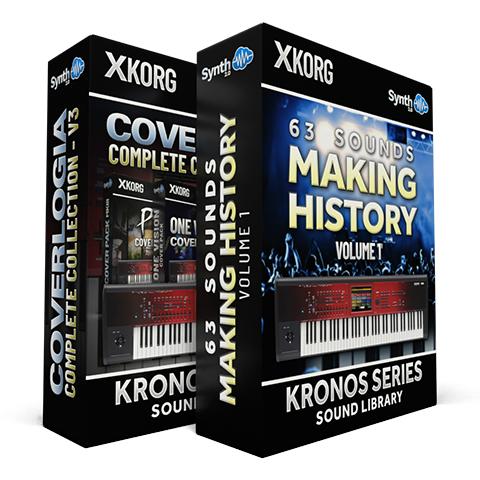SCL176 - ( Bundle ) - CoverLogia - Complete Cover Collection V3 + 63 Sounds - Making History Vol.1 - Korg Kronos