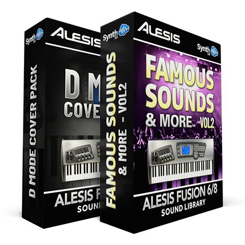 SCL36 - ( Bundle ) - D-Mode Cover Pack + Famous Sounds and more - Alesis Fusion 6/8