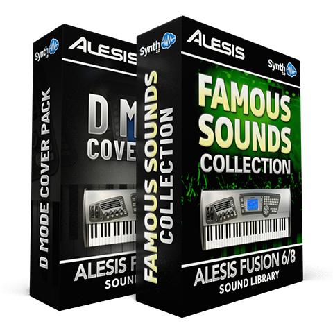 SCL38 - ( Bundle ) - D-Mode Cover Pack + Famous Sounds Collection- Alesis Fusion 6/8