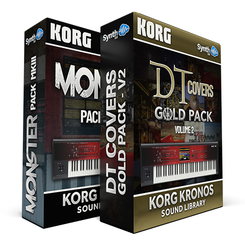 SCL80 - ( Bundle ) - Monster Pack MKIII + DT Covers Gold Pack V2 - Korg Kronos