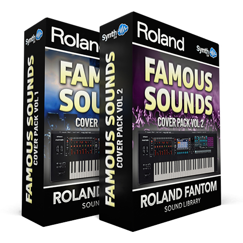 SCL256 - ( Bundle ) - Famous Sounds Cover Pack Vol.1 + Vol.2 - Roland Fantom