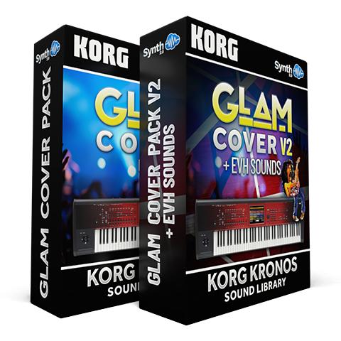 SCL326 - ( Bundle ) - Glam Cover Pack V1 + V2 - Korg Kronos / X / 2