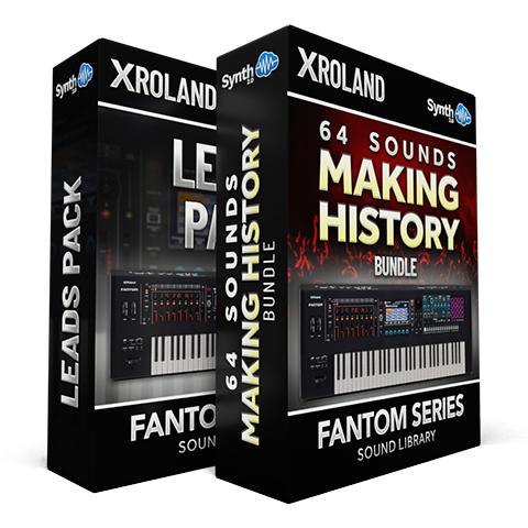 SCL334 - ( Bundle ) - 64 Sounds - Making History Vol.1 + Vol.2 + Vol.3 + Leads Pack - Roland Fantom