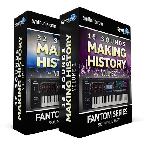 SCL256 - ( Bundle ) - 32 Sounds - Making History Vol.1 + 16 Sounds - Making History Vol.2 - Fantom