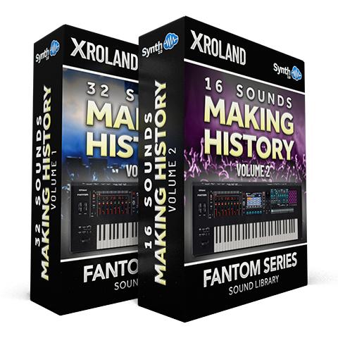 SCL256 - ( Bundle ) - 32 Sounds - Making History Vol.1 + 16 Sounds - Making History Vol.2 - Roland Fantom