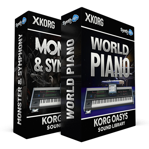 SCL84 - ( Bundle ) - Monster and Symphony + World Piano - Korg Oasys