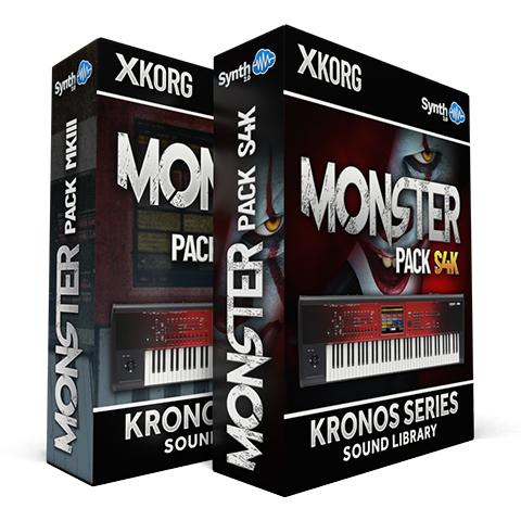SCL207 - ( Bundle ) - Monster Pack S4K + Monster Pack MKIII - Korg Kronos Series