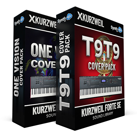 LDX138 - ( Bundle ) - One Vision Cover Pack + T9t9 Cover Pack - Kurzweil Forte SE