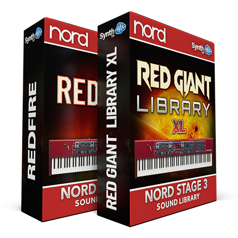 SCL167 - ( Bundle ) - Red Fire + Red Giant XL - Nord Stage 3