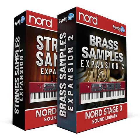 SCL206 - ( Bundle ) - Strings Samples Expansion 01 + Brass Samples Expansion 02 - Nord Stage 3
