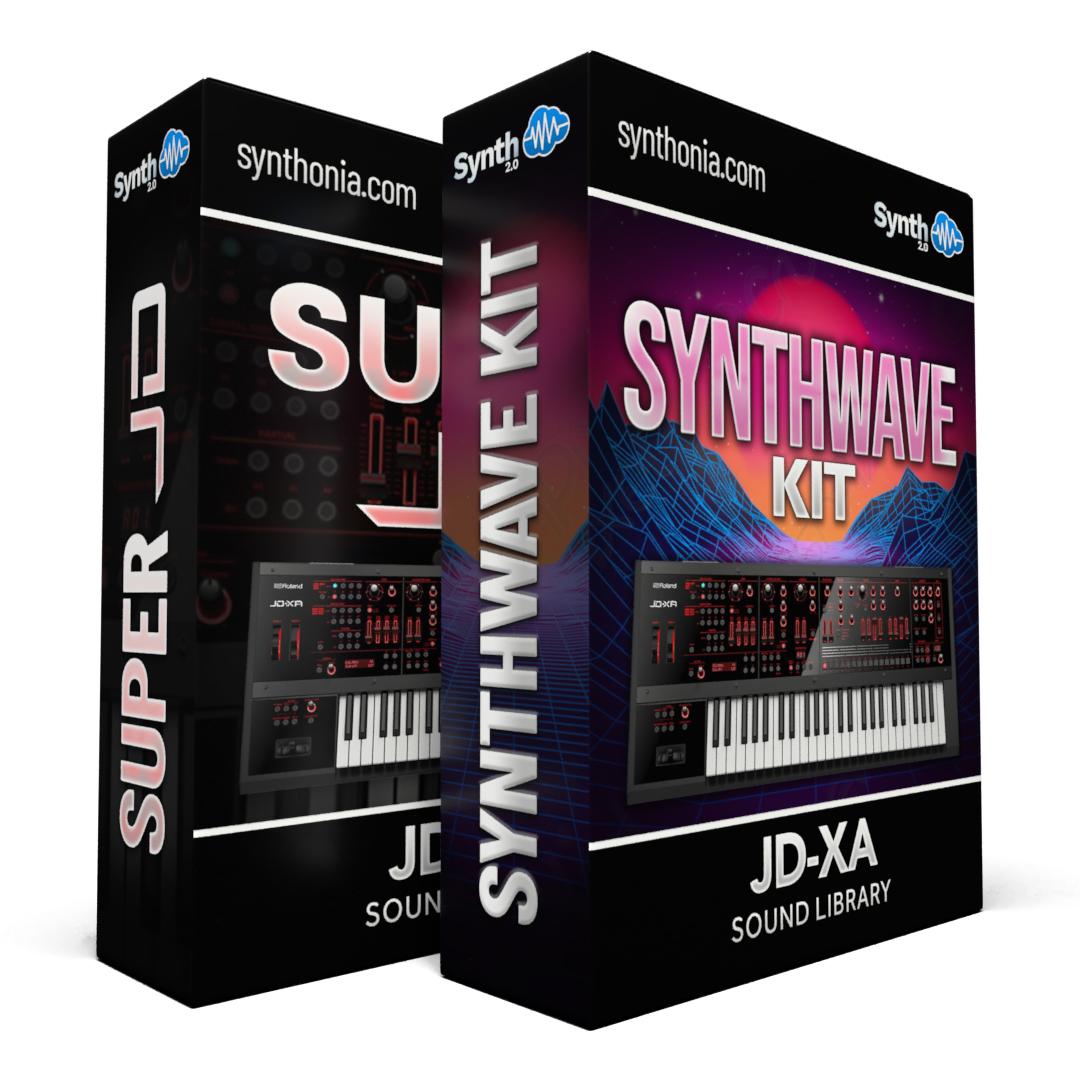 SCL110 - ( Bundle ) - Super Jd + Synthwave Kit Vol.1 - JD-XA