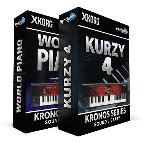 SSX15 - ( Bundle ) - World Piano + Kurzy 4 - Korg Kronos Series