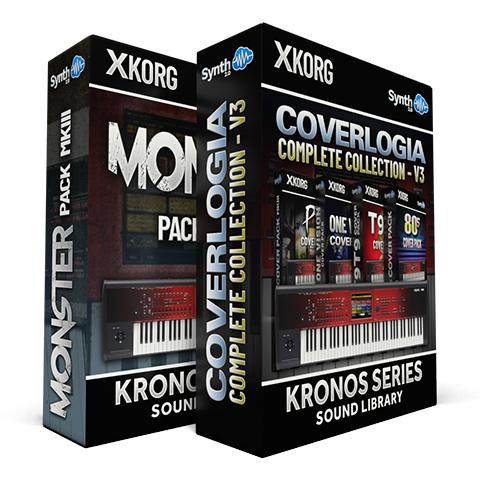 LDX101 - ( Bundle ) - Monster Pack MKIII + Coverlogia: Complete Cover Collection V3 - Korg Kronos Series