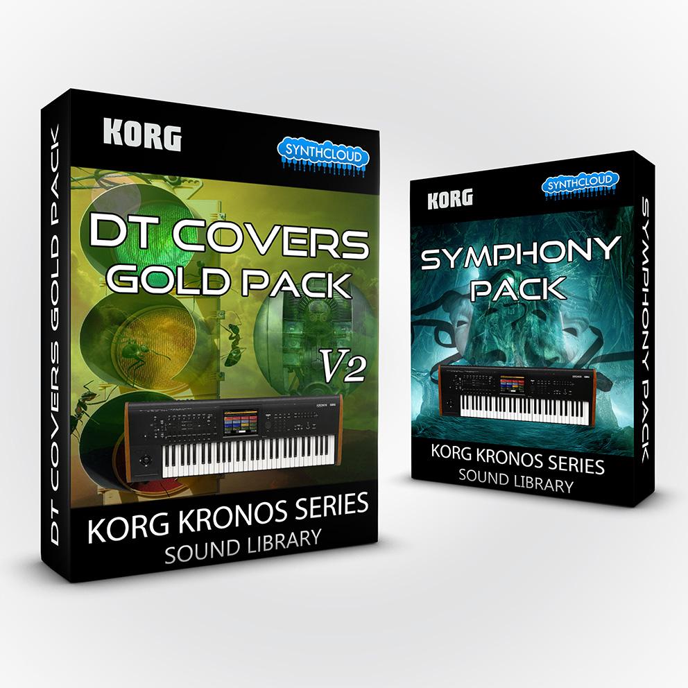SCL203 - ( Bundle ) DT Covers Gold Pack V2 + Symphony Pack - Korg Kronos Series