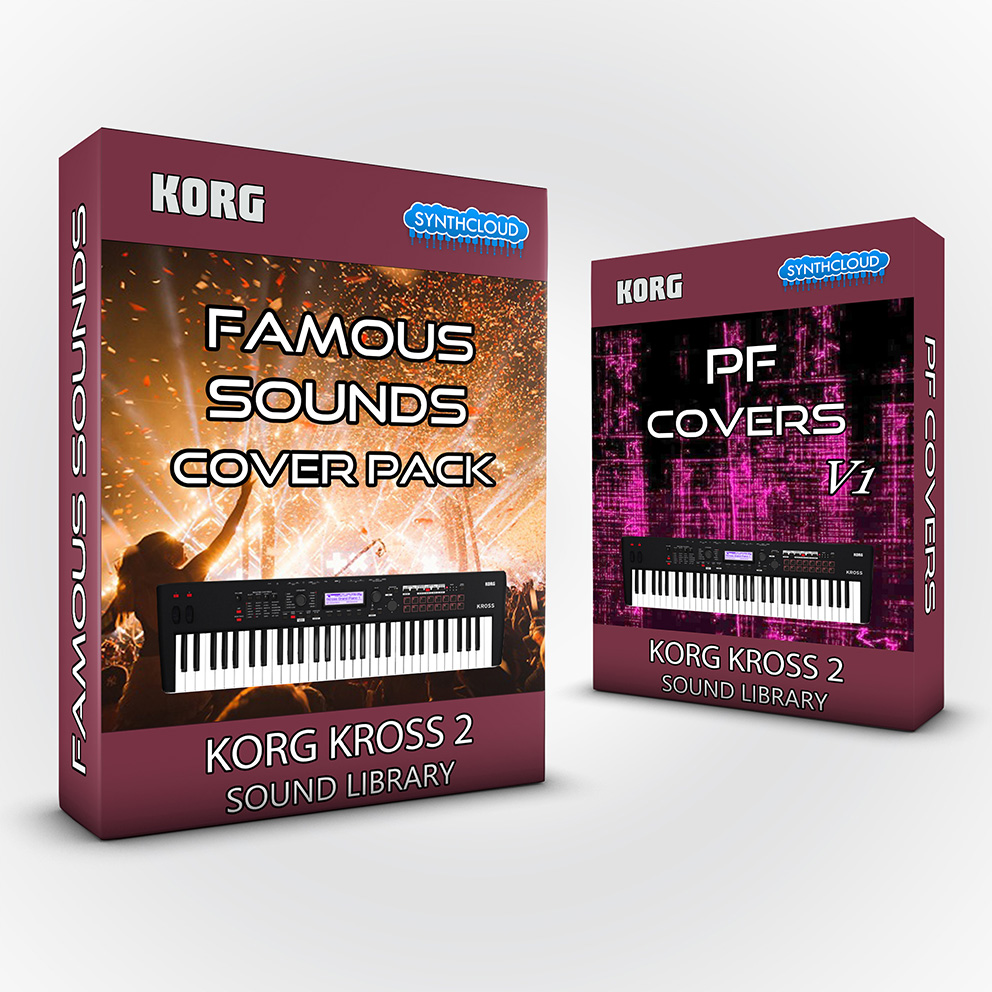 SCL188 - ( Bundle ) Famous Sounds Cover Pack + PF Covers - Korg Kross 2