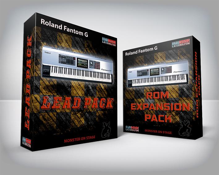 ( Bundle ) Lead Pack + Rom Expansion Pack - Roland Fantom G