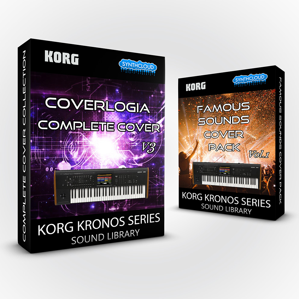 SCL176 ( Bundle ) - CoverLogia - Complete Cover Collection V3 + Famous Sounds Vol.1 - Korg Kronos
