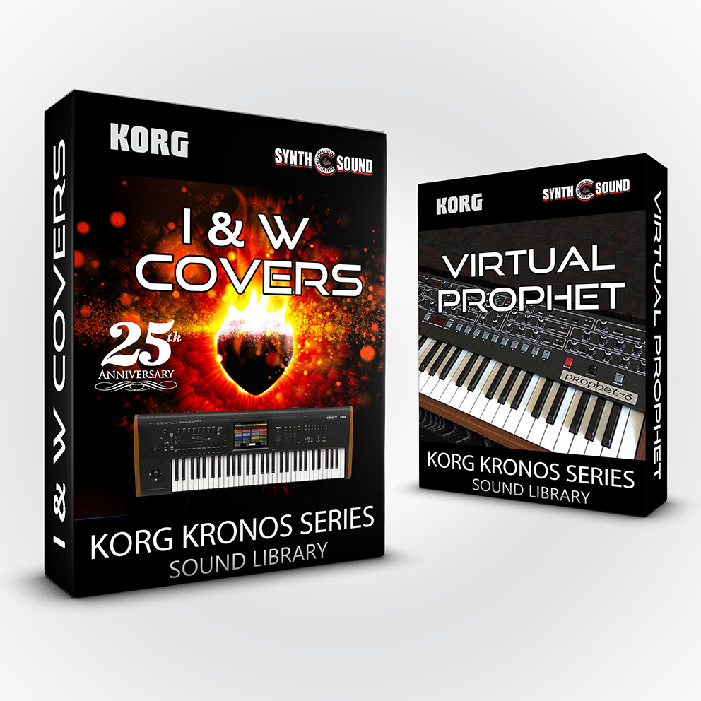 SSX143 - ( Bundle ) - I&W Covers / 25th Anniversary + Virtual Prophet - Korg Kronos Series