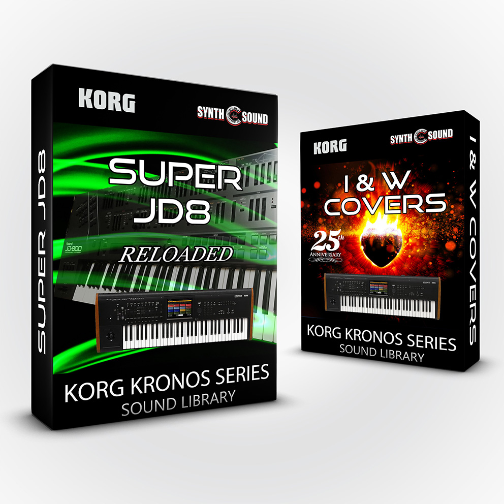 SSX139 - ( Bundle ) - I&W Covers / 25th Anniversary + Super JD8 Reloaded - Korg Kronos Series