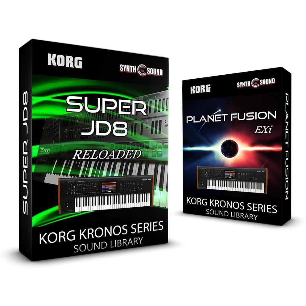 SSX137 - ( Bundle ) - Planet Fusion EXi + Super JD8 Reloaded - Korg Kronos Series
