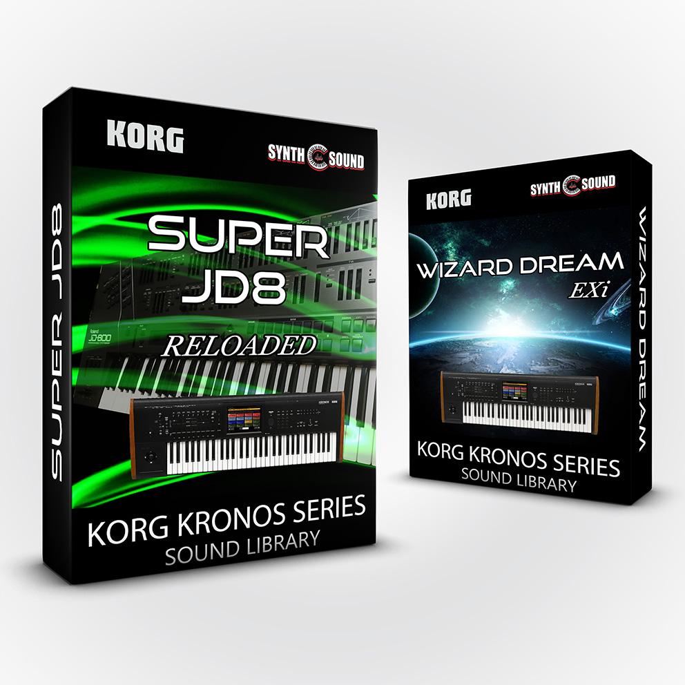 SSX136 - ( Bundle ) - Wizard Dream EXi + Kurzy 4 + Super JD8 Reloaded - Korg Kronos Series