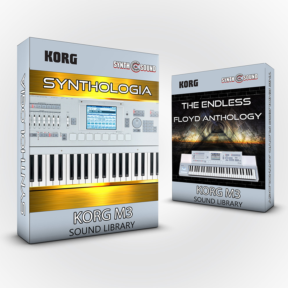 SSX132 - ( Bundle ) Synthologia V1 + The Endless Floyd Anthology - Korg M3