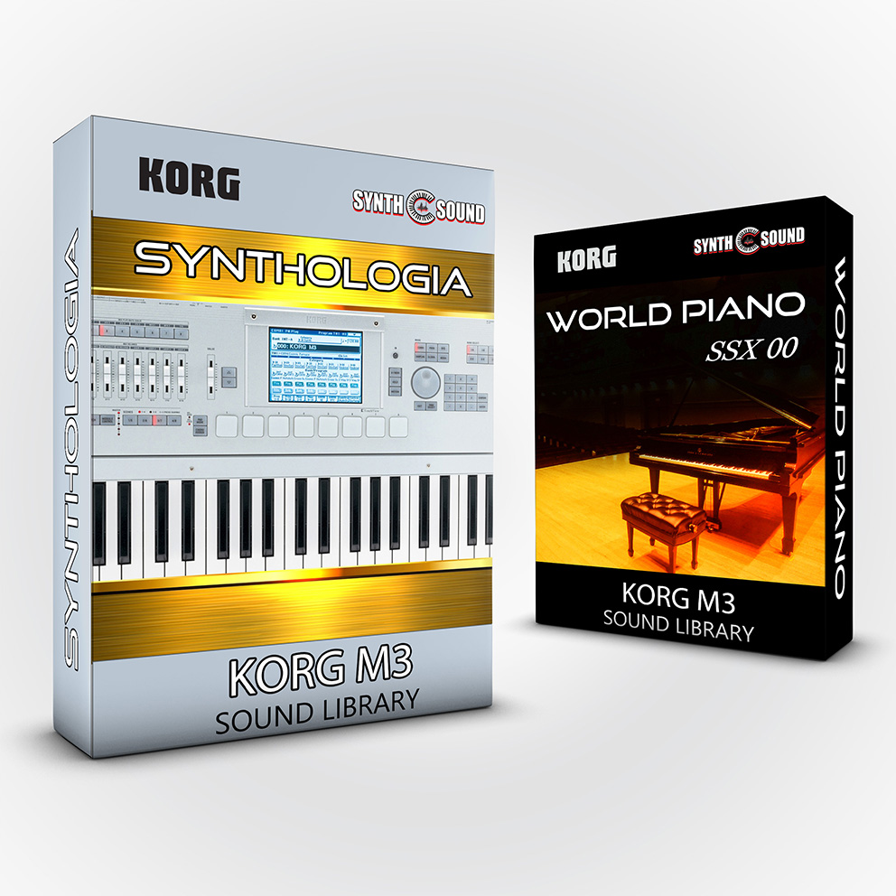 SSX131 - ( Bundle ) Synthologia V1 + World Piano V1 - Korg M3