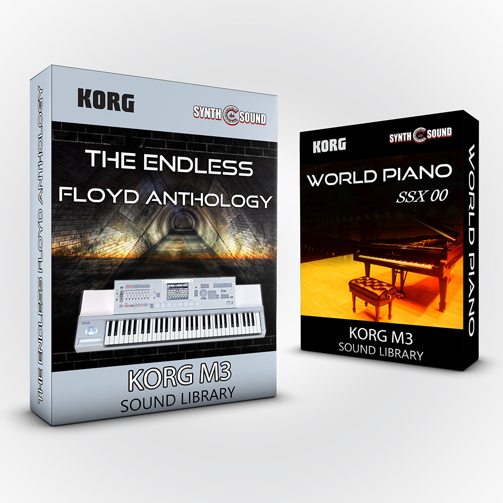 SSX133 - ( Bundle ) The Endless Floyd Anthology + World Piano V1 - Korg M3