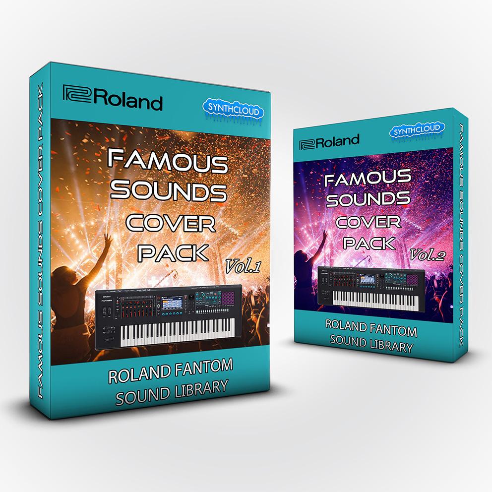 SCL256 - ( Bundle ) - Famous Sounds Cover Pack Vol.1 + Vol.2 - Roland Fantom