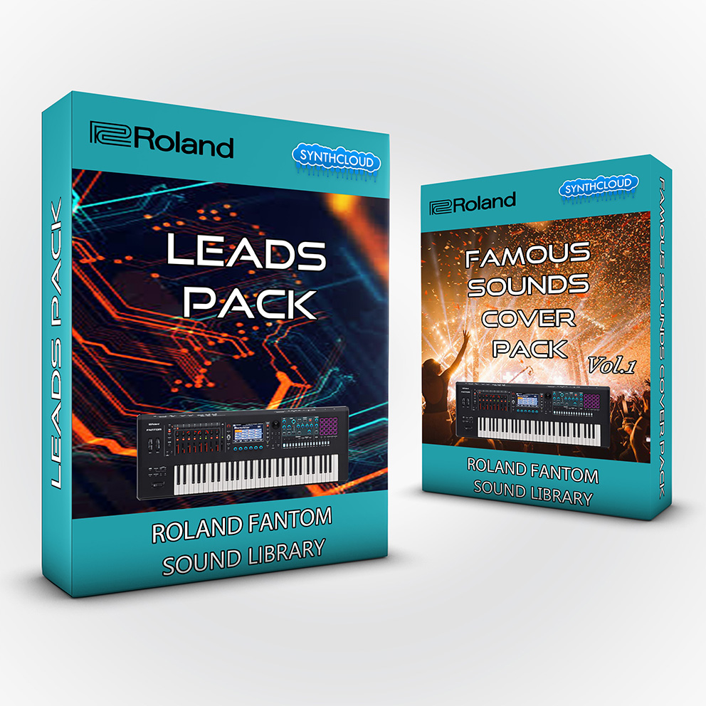 SCL190 ( Bundle ) - Leads Pack + Famous Sounds Cover Pack Vol.1 - Roland Fantom