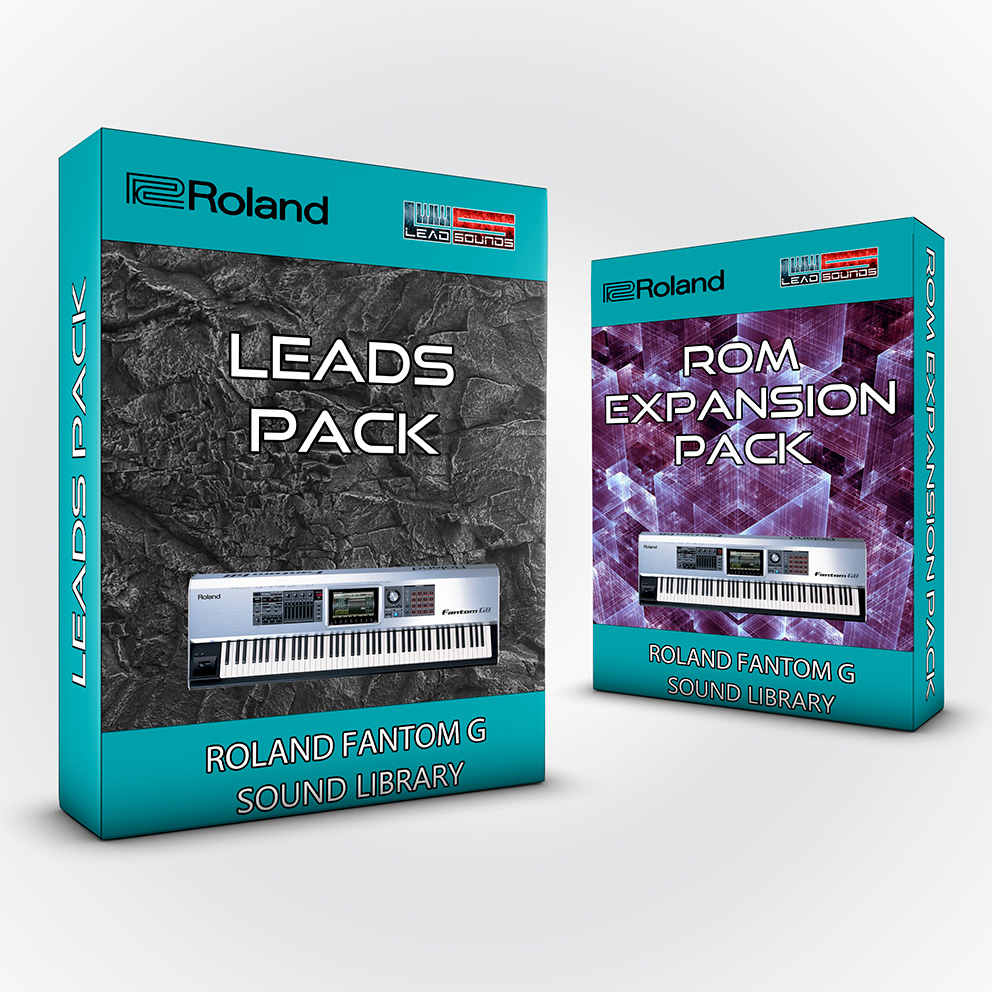 ( Bundle ) Leads Pack + Rom Expansion Pack - Roland Fantom G