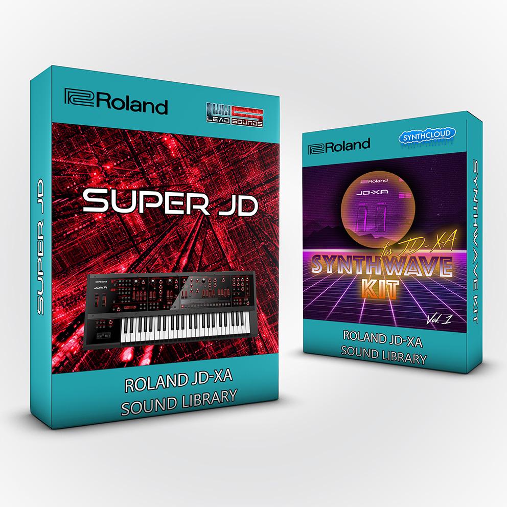 SCL110 - ( Bundle ) Super Jd + Synthwave Kit Vol.1 - Roland Jd-Xa