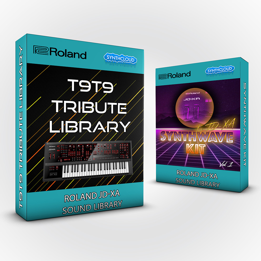 SCL120 - ( Bundle ) - T9t9 Tribute Library + Synthwave Kit Vol.1 - Roland Jd-Xa