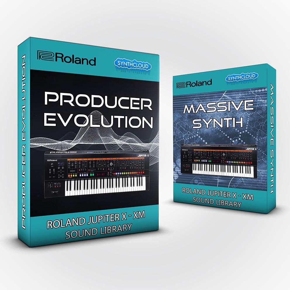 SCL230 - ( Bundle ) - Producer Evolution V1 + Massive Synth - Roland Jupiter X / XM
