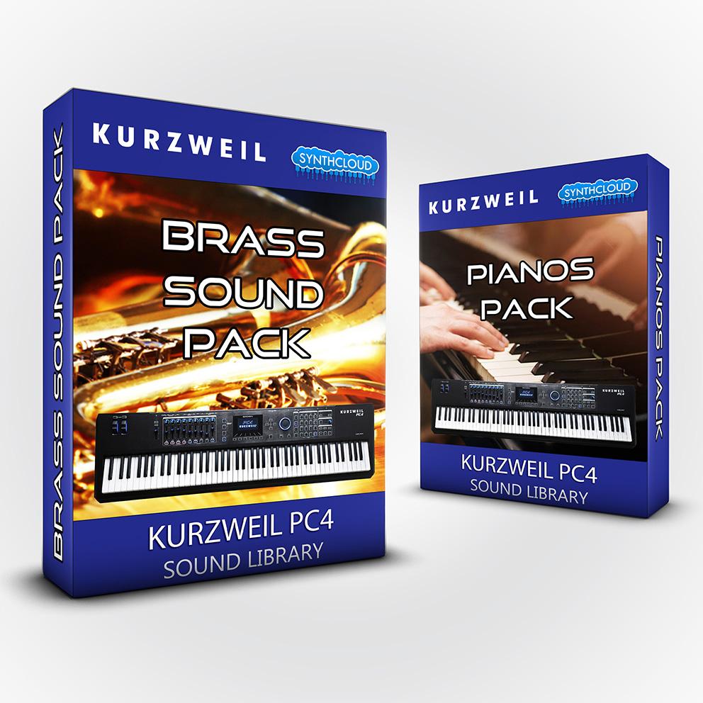 SCL249 - ( Bundle ) - Brass & Fisa + Pianos Pack - Kurzweil PC4