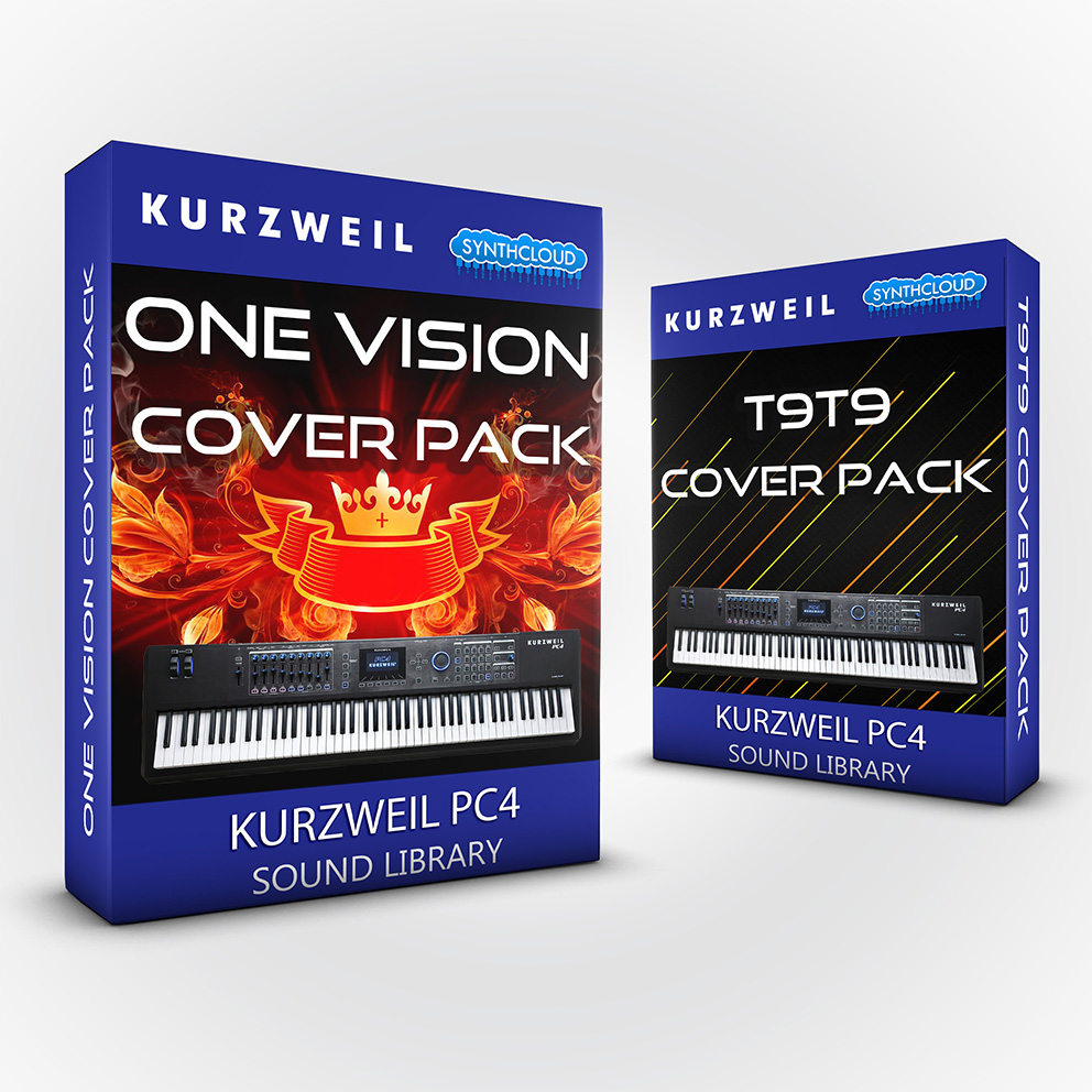 LDX138 - ( Bundle ) - One Vision Cover Pack + T9t9 Cover Pack - Kurzweil PC4