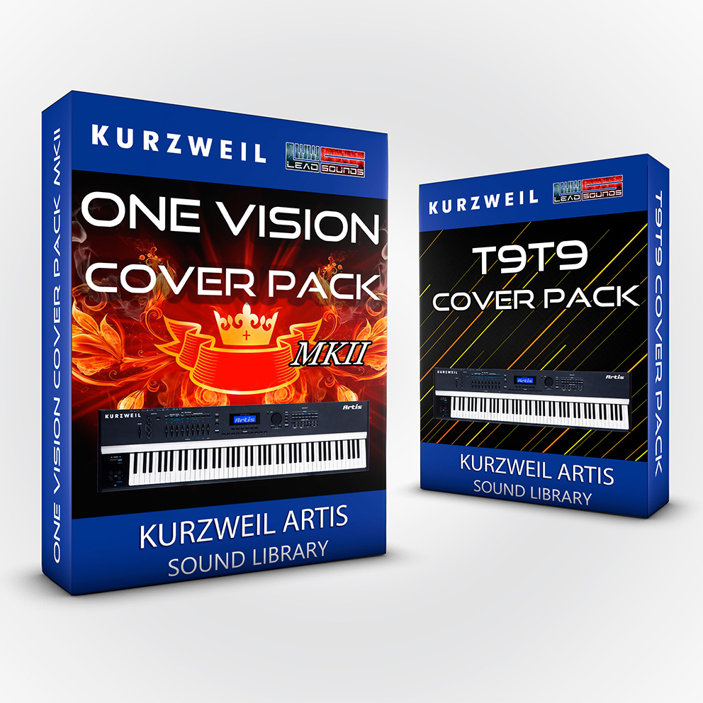 LDX138 - ( Bundle ) - One Vision Cover Pack + T9t9 Cover Pack - Kurzweil Artis