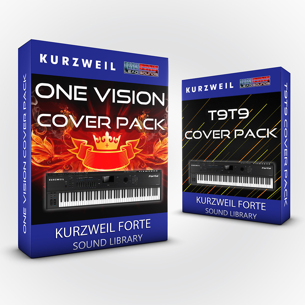 LDX138 - ( Bundle ) - One Vision Cover Pack + T9t9 Cover Pack - Kurzweil Forte
